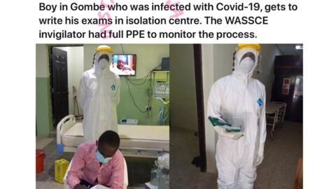 COVID-19 patient writes WAEC in isolation centre in Gombe State