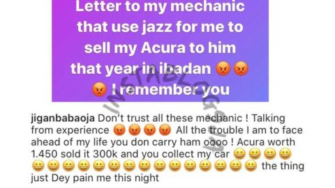 Actor Jigan recounts how his mechanic charmed him into selling his car for N300k