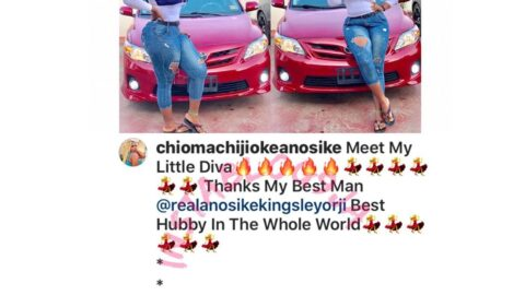 Actress Chioma Chijioke's husband gifts her a multi-thousand dollars wonder on wheels
