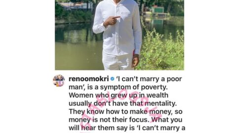 Saying 'I can't marry a poor man,' is a symptom of poverty — Reno Omokri