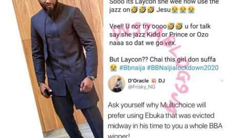 BBN: Media Personality Uti Nwachuckwu apologizes after being called out by DJ Frisky. [Swipe]