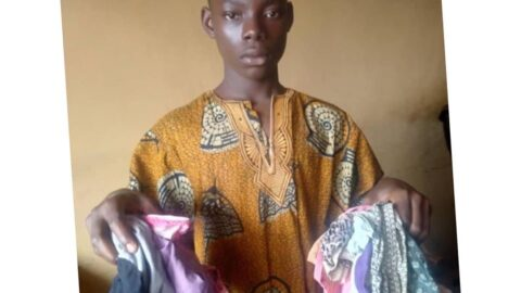 16-year-old boy arrested with 14 used female panties .