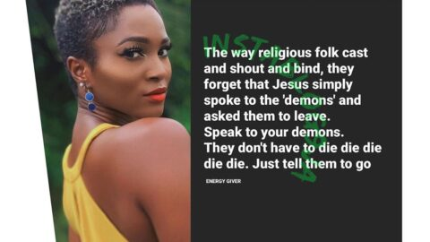 Speak to your demons. They don't have to die — Ex Rapper, Eva Alordiah