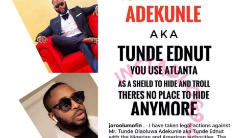 Bloggers at War: Joro Olumofin takes legal action against Tunde Ednut, reports him to t