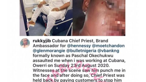 Lady calls out Cubana ChiefPriest for allegedly assaulting her at a recent event in Owerri, Imo State [Swipe]