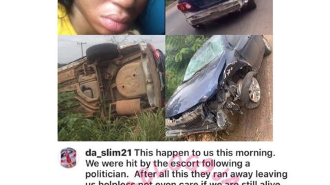 Police demanding N200k after a politician's escort hits a fully loaded car, nearly killing all occupants. [Swipe]