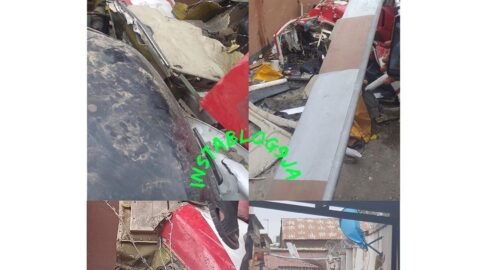 Just In: Two feared dead as helicopter crashes into building in Lagos .