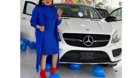 Ahead of her birthday , Bobrisky gifts himself another Benz