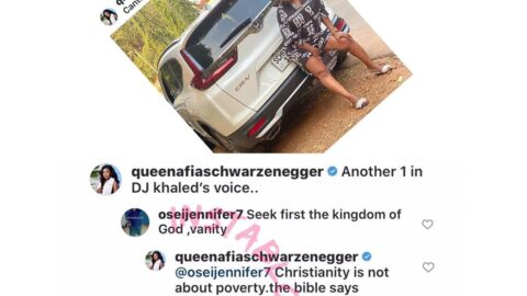 """""""Christianity isn't about poverty. Read your Bible,"""" Ghanian comedienne, Afia, tells a sister in the lord."""