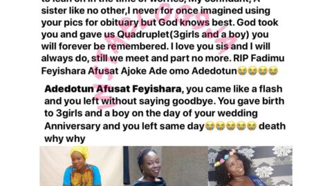 After waiting for 7yrs, lady dies as she welcomes a set of quadruplets .
