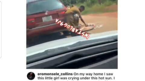 Artiste manager Eromonsele aids a child hawker knocked down on a highway in Edo State