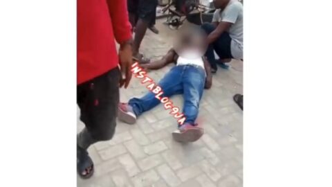 Businessman collapses after his shop was allegedly demolished by the Lagos State Government.