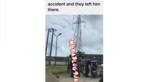 Policemen allegedly abandon dispatch rider after he had an accident while they were chasing him in Lagos State.