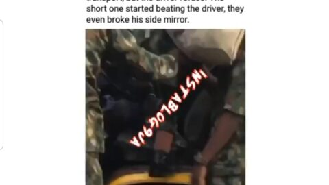 Soldiers assault a bus driver – who carried them for free – for allegedly refusing to give them transport fare to their destination after being stuck in traffic
