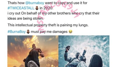 Photographer accuses Burnaboy of intellectual property theft