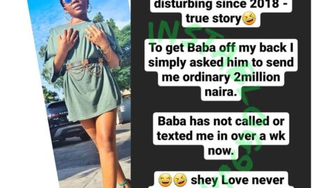 Reality Tv Star, Ifuennada, reveals what she did to get a man off her back
