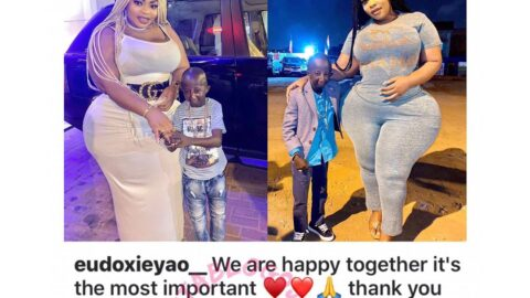 Physique doesn't matter — Ivorian Singer, Eudoxie Yao, says as she shows off her boyfriend, Grand P