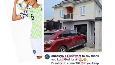 Super Falcons Star, Onome Ebi acquires a house in Ajah, Lagos