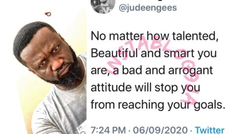 No matter how talented and beautiful you are, a bad attitude will stop you from reaching your goals — Music executive, Jude Okoye