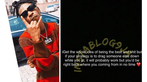 Dragging someone down while trying to be the best, will probably work but not for long — Singer Mayorkun