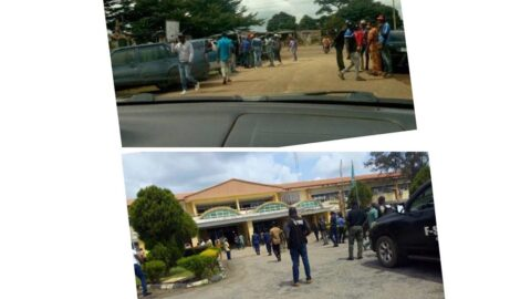 Gubernatorial Election: Suspected thugs invade Ondo House of Assembly. .