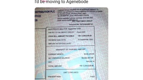 OAP Osi gives up on city life after receiving his electricity bill for September. Signals a relocation to his ancestors in Agenebode, Edo State