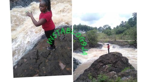 Lady falls to her death while posing for pics on a date with her fiancé in Kenya .