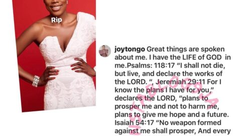 Singer Cynthia Morgan's estranged manager, Joy Tongo, goes spiritual as she reacts to her latest dig at her