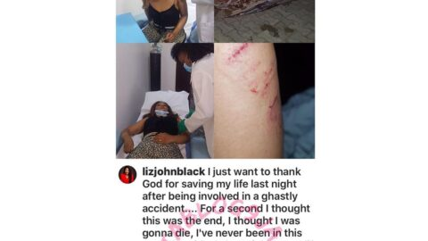 Actor Yomi Black's wife, Liz, involved in a ghastly car accident in Lagos State