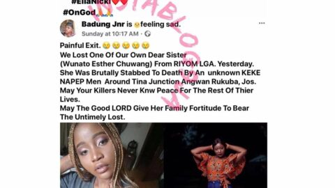 A week after her birthday, student stabbed to death on her way to church . .