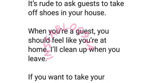 It's rude to ask guests to take off shoes in your house — Youtuber