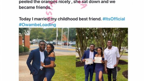 IT Consultant weds lady he met while selling oranges as a child
