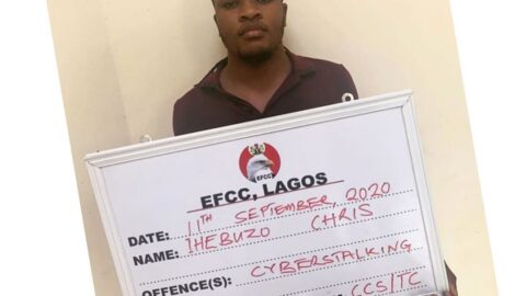 EFCC arrest man for allegedly hacking over 1000 customers' bank details and BVN in Lagos .