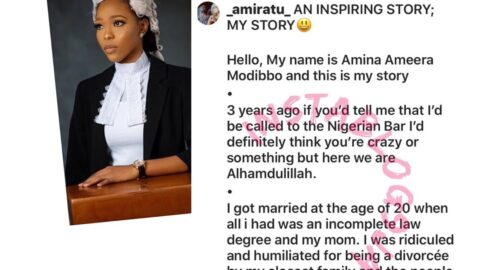 """""""My family thought I'd be useless and sleep around because that's what divorced women do,"""" 23-yr-old divorcée shares her story as she is called to Bar [Swipe]"""