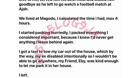 The day I left my ex-husband, I allowed him to make love to me, served him his best meal, and kissed him goodbye as he left to go watch a football match — Lady[Swipe]