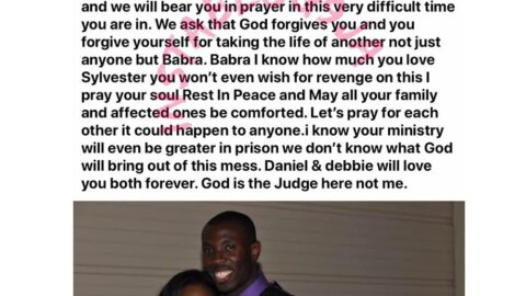 """""""I know it's the devil. Your ministry will be greater in prison,"""" Ghanaian pastor reacts after his colleague brutally murdered his wife in the US. [Swipe]"""
