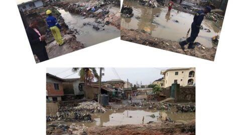 Flood sweeps two children away in Lagos .
