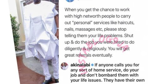 When you get the chance to work with high network people, please don't tell them your life problems — Hon. Akin Alabi. [Swipe]