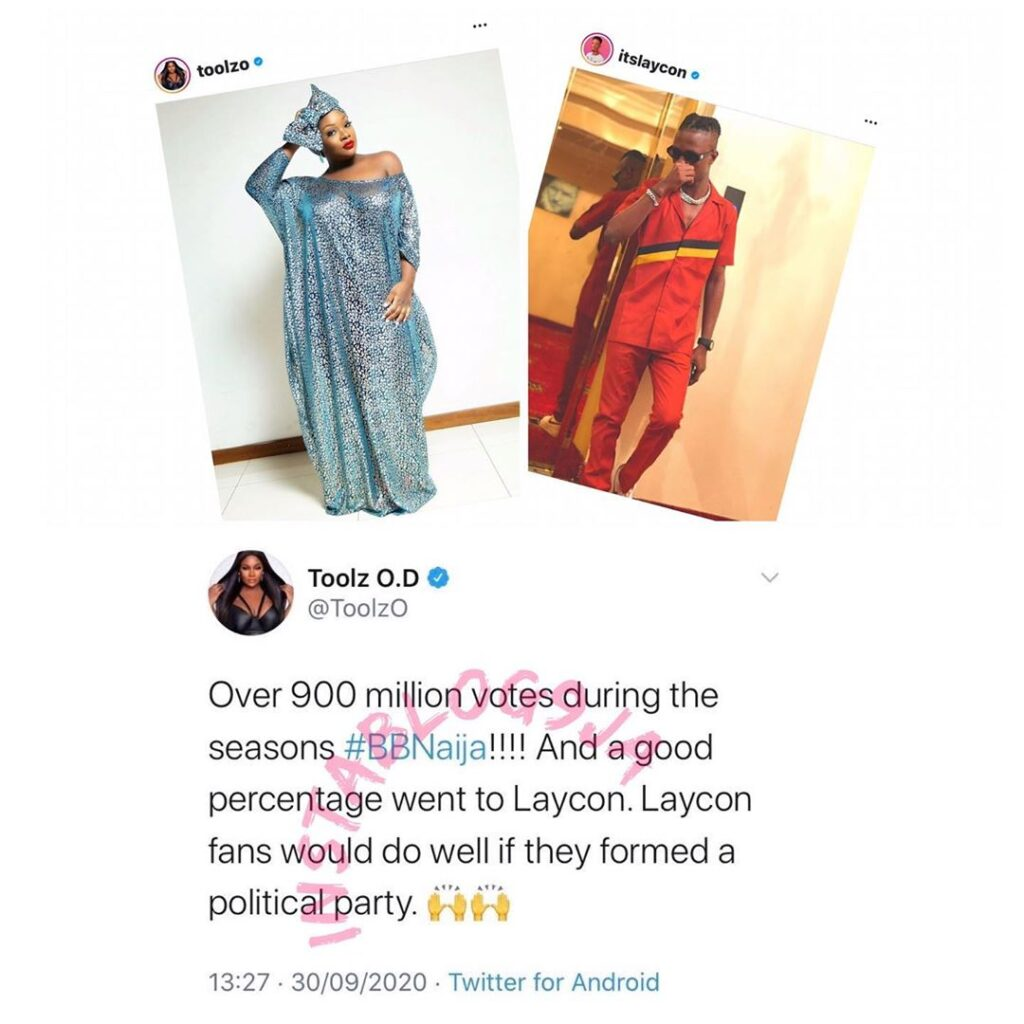 BBN: Laycon's fans would do well if they formed a political party — OAP Toolz