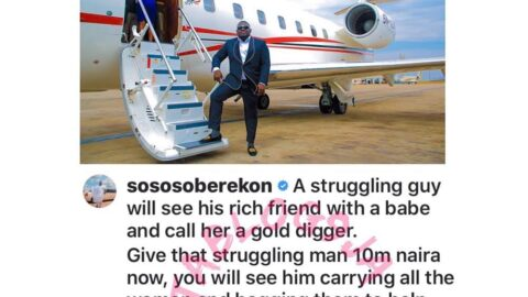 Lack of money is the cause of jealousy — Music Executive Soberekon