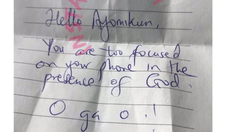 Just In: Jubilation in Heaven as Mom rescues daughter from cell phone addiction, during Church service