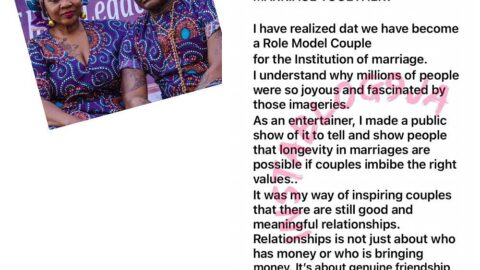Why I showed off my 4th proposal to my wife in 45yrs — Charly Boy [Swipe]