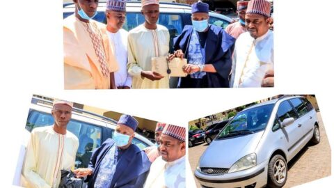 5 years after trekking for Pres. Buhari's victory, ailing man gets a car and N2million reward