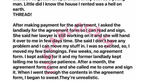 Man recounts his horrid ordeal in the hands of a Lagos landlady. [Swipe]