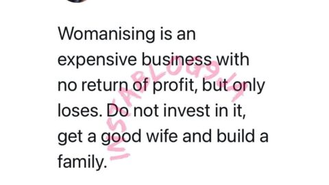 Womanizing only brings you losses. Invest in getting a good wife — Media Personality Osas