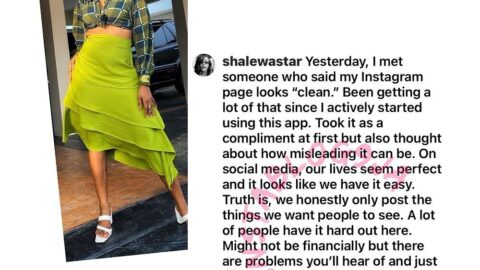 Our lives aren't perfect. We only post things we want people to see — Actress Shalewa Ashafa [Swipe]