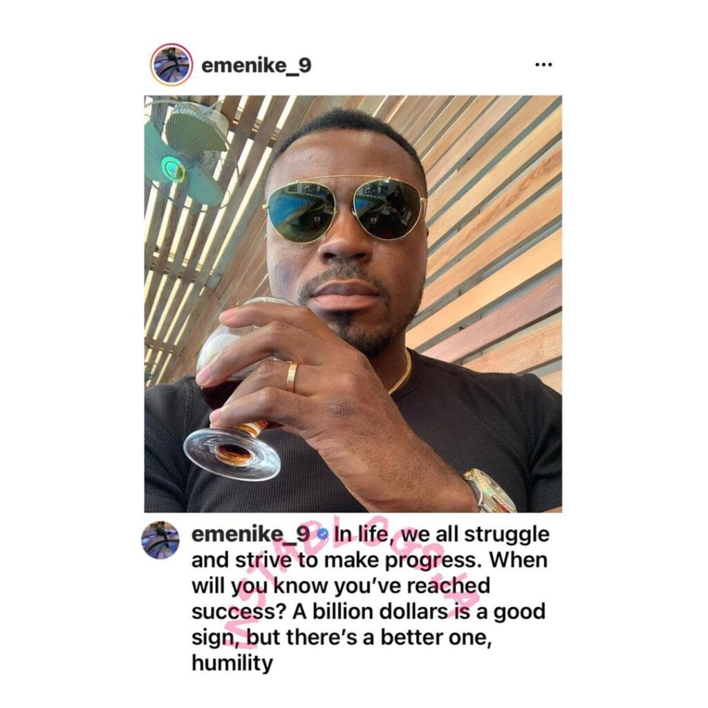 How to know you've attain success — Footballer Emmanuel Emenike