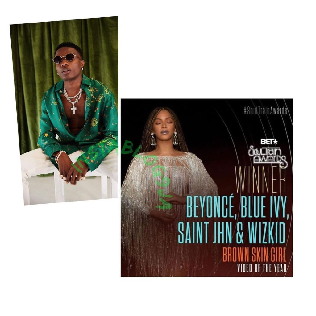 Singer Wizkid wins BET Soul Train Award for the second time