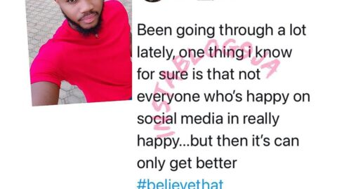 I have been going through a lot lately. Not everyone who is happy on social media are truly happy — BBN's Praise