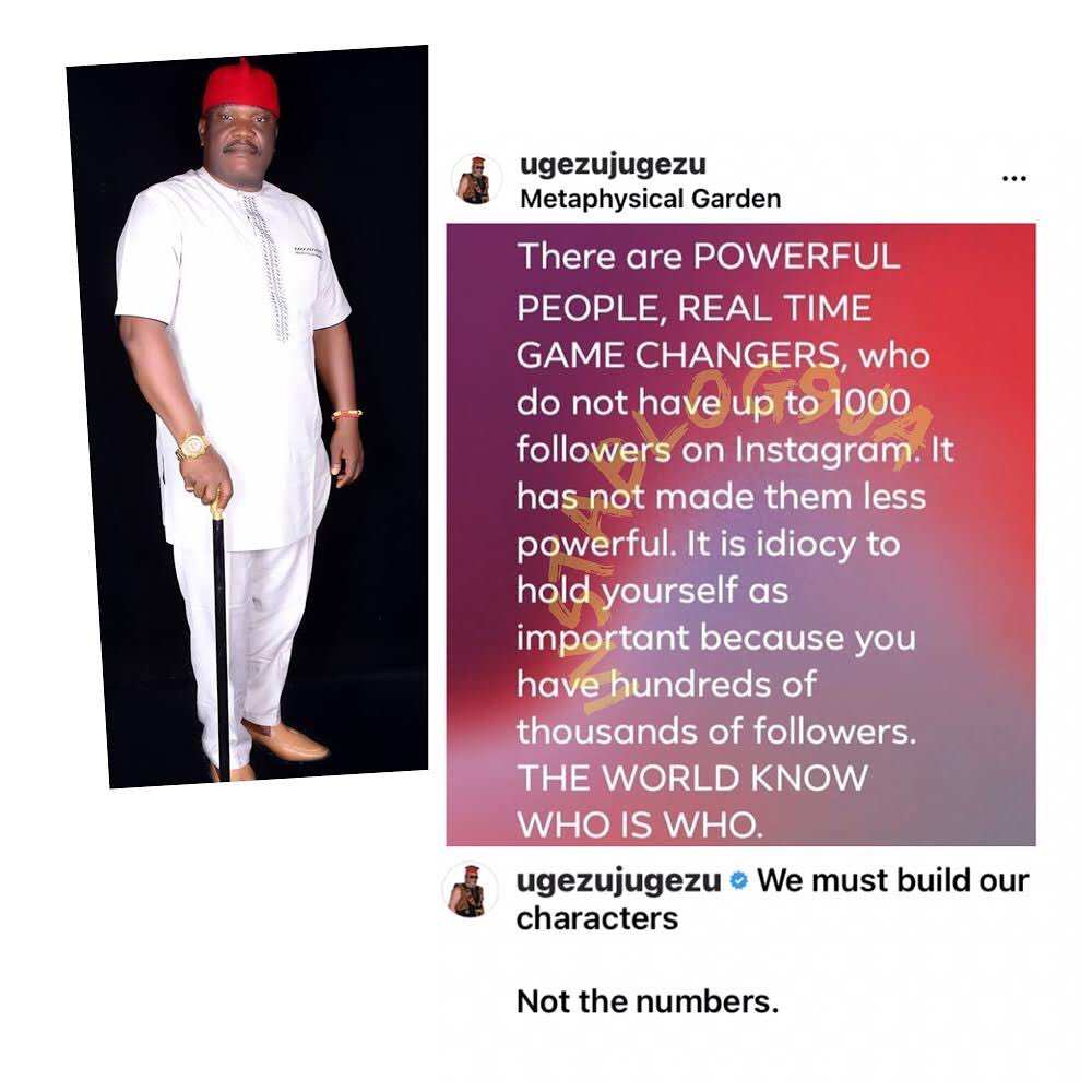 It's idiocy to think you are important because you have lots of followers — Filmmaker Ugezu